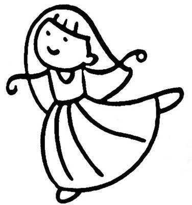 西班牙舞服简笔画儿童跳舞简笔画图片 国际 91文库