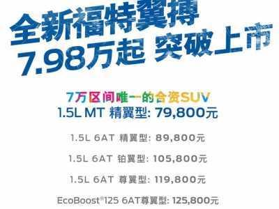 翼搏上市时间 售价7.98-15.58万元